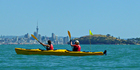 Explore the Hauraki Gulf aboard a sea kayak. Photo / Supplied