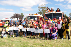 The Variety Bash 2013 visits Hapuku School. Picture / Jacqui Madelin