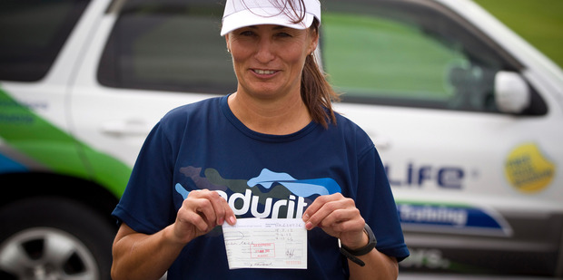 Fitness instructor Lisa Cook is currently using a temporary paper driver's licence. Photo / Michael Craig