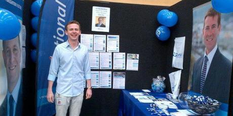 "Visitors to the National Party's stand at Dunedin ""Women's Lifestyle Expo"" were invited to enter a draw to dine with the PM.  Photo / Supplied"