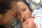 Amanda Lowry, centre, shares a cuddle with Gemma Holroyd and daughter Ziggy. Photo / Supplied