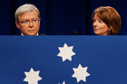 Between them, Kevin Rudd and Julia Gillard appear to have done irreparable harm to the Australian Labor Party's leadership this week. Photo / Getty Images