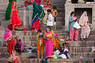 Hawkers and colourful characters of all descriptions line the ghats leading to the sacred Ganges and the busy alleyways behind. Photo / Tessa Chrisp