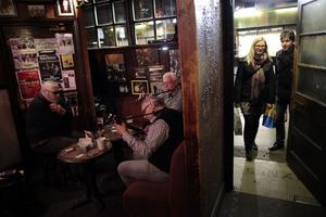 O'Donoghue's pub in central Dublin. There were plenty of Irish celebrating St Patrick's Day in Australian Irish pubs. Photo / AP