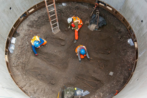 Archaeologists working on the UK's largest infrastructure project uncover the skeletons. Photo / AFP