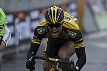 Germany's Gerald Ciolek crosses the finish line to win the Milan-San Remo classic, in San Remo, Italy.  Photo / AP