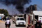 Smoke rises after a car bomb attack in Sadr City, Baghdad, Iraq. Photo / AP