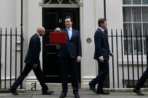 George Osborne's Budget is focused on debt reduction. Photo / AP