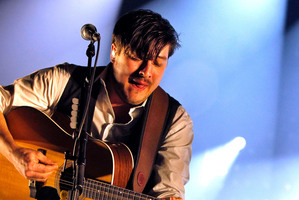 Lead singer Marcus Mumford from with Mumford & Sons. Photo / AP