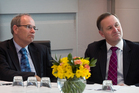 Nothing to smile about for either Len Brown (left) or John Key. Photo / Natalie Slade