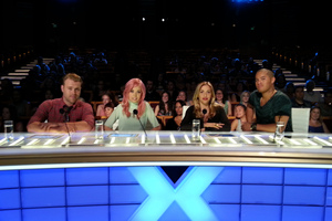 The X Factor judges, from left, Daniel Bedingfield, Ruby Frost, Mel Blatt and Stan Walker. Photo / Supplied