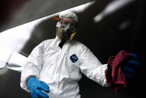 Residual chemicals in P lab houses are highly toxic. Photo / APN