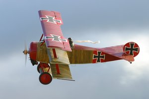 The infamous German fighter ace, the Red Baron, flew into battle in a Fokker triplane. Photo / Supplied