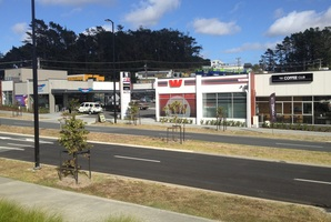 Five tenanted units in a new convenience centre at 16 Wainui Rd, Silverdale.