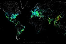 Carna Botnet client distribution from March to December 2012. Photo / Supplied 