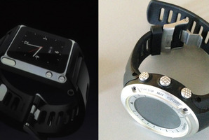 The Verge's Apple 'iWatch' concept image. left; and Suunto Ambit, right. Photo / Supplied