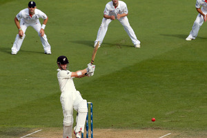 Kane Williamson brought up a half century in the morning session. Photo / Getty Images