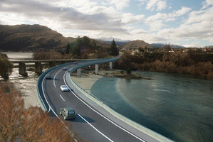 An artist's impression of the proposed Kawarau Falls bridge. Image / supplied