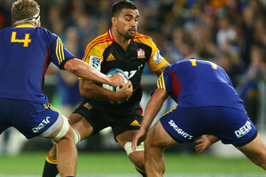 The Chiefs have won 13 of the 20 encounters against the Highlanders including a 41-27 earlier this season. Photo / Getty Images