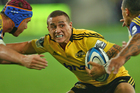 TJ Perenara in action for the Hurricanes. Photo / Getty Images