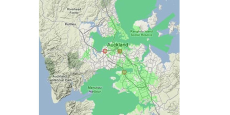 Vodafone's 4G coverage. Photo / Supplied