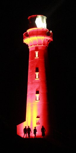 BEACON: The Castlepoint lighthouse, which will be illuminated in different colours for the centennial celebration, is one of several major events in Wairarapa this weekend.
