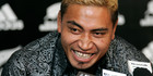 Jerry Collins at a press conference in 2008. Photo / NZ Herald/File photo
