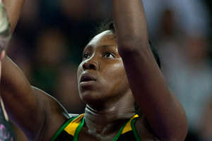 Southern Steel shooter Jhaniele Fowler. Photo / Getty Images.