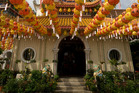 Lanterns at Kek Lok Si Buddhist Temple, Air Itam, Penang. Photo / Getty Images