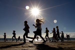 The Shore To Shore Fun Run. Photo / Brett Phibbs