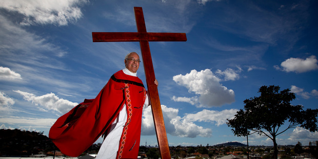 Pa Petera Tipene is the only fulltime Maori Catholic priest from Auckland to Cape Reinga. Photo / Sarah Ivey