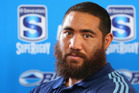 Blues prop Charlie Faumuina was injured against the Waratahs and could be out for six weeks. Photo / Getty Images