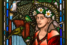 The new window panels in St Paul's Cathedral, Dunedin. Photo / Otago Daily Times