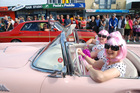Convertibles, hot-rods and classic American beauties brought thousands of spectators, enthusiasts and their families to Whangamata. Photo / Jacqui Madelin