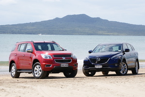Holden Colorado v Mazda CX-9. Photo / David Linklater