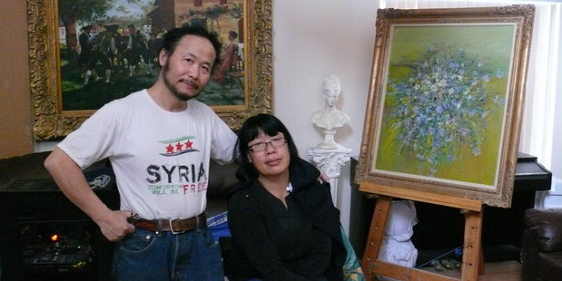 Artist-turned-fighter Weiming Chen reunited with his wife Anne.
