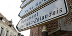 Signs that make the New Zealand presence known are everywhere in Le Quesnoy. Photo / Supplied