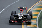 Lotus driver Kimi Raikkonen of Finland controls his car on turn two during the Australian Formula One Grand Prix at Albert Park in Melbourne, Australia. Photo / AP