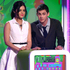 Lucy Hale and Logan Lerman present the award for favourite movie actor at the Nickelodeon's Kids' Choice Awards. Photo / AP