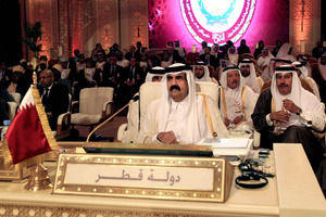 The opening session of the Arab League Summit in Doha, Qatar. Photo / AP