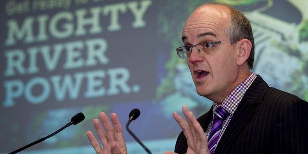 Loading Stae owned enterprises Minister Tony Ryall speaking at the launch of pre-registration for the Government's share offer in Mighty River Power earlier this month. Photo / NZ Herald
