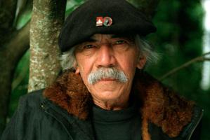 New Zealand artist Ralph Hotere. Photograph / Ross Coombes