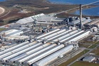 The Tiwai Pt aluminium smelter - which uses around one-seventh of New Zealand's electricity. Photo / Supplied
