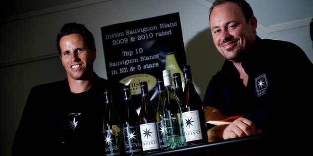 Invivo Wines New Zealand Ltd founders Tim Lightbourne (left) and Rob Cameron.  China is becoming an important market for NZ wine. Photo / NZ Herald.