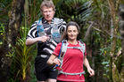 Shaun Collins and Vicki Woolley run the Hillary Trail through the Waitakere Ranges. Photo / Natalie Slade