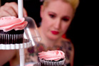 Miss Melicious, aka Missy Fleming, with her cupcakes at the Miss Melicious Cupcakery in Te Atatu, Auckland. Photo / Dean Purcell
