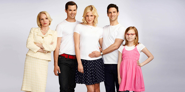 The cast of New Normal must cope with a script that leads from cute to crude. Photo / Supplied