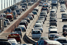 The number of cars crossing the Auckland Harbour Bridge is creeping back up. Photo / Brett Phibbs