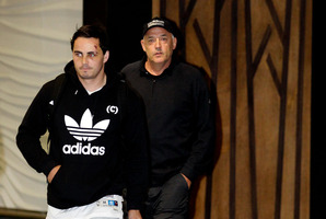 All Blacks mental skills coach Gilbert Enoka (right), with All Black Zac Guildford, says big sessions on the booze are no longer the norm. Photo / Sarah Ivey