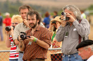 Filmmaker Peter Jackson at the 2005 Classic Fighters at Omaka Aerodrome in Blenheim. Photo / File